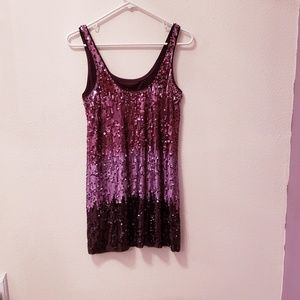 Express Ombre Sequin Mini dress - XS